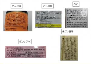 11月の原材料、成分表