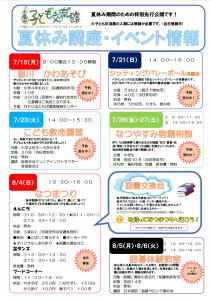 千葉市子ども交流館2019年夏休み講座・イベント情報