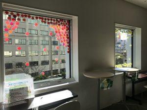 窓辺の紅葉