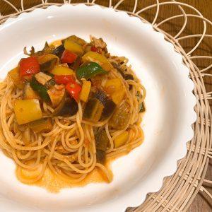 8月トマトパスタ画像