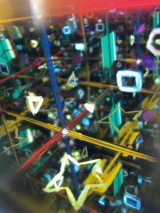 8月なかよし工房Aクラス 「手のひらサイズの夜空をつくろう!」キューブ型の万華鏡画像